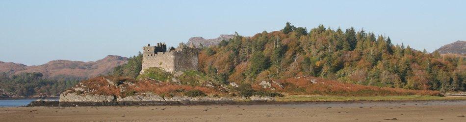Castle Tioram in Autumn