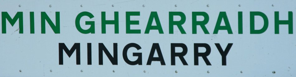 One of the road signs in Mingarry