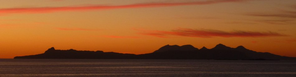 Sunset over The Small Isles from Glenuig