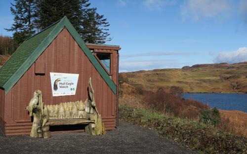 The hide at Loch Torr