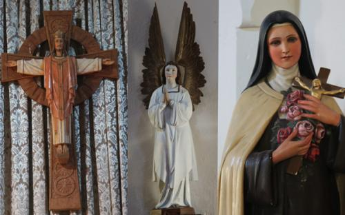 Some of the figurines within the Church