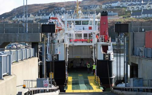 Boarding the ferry at Mallaig