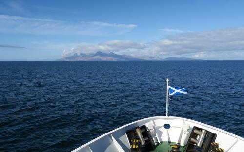 On the ferry heading towards The Isle of Rum