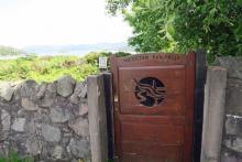 The gated entrance to Eilean Bàn