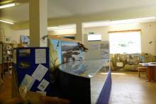 The inside of The Bright Water Centre in Kyleakin