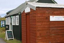 The Green Shed craft shop just by the habour on The Isle of Muck