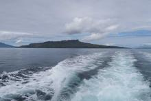 Speeding away from Eigg heading towards Muck
