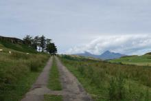 Heading out on the road to Gallanach Bay
