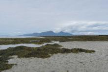 The isle of Rum from Gallanach Bay on The Isle of Muck