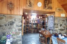 Inside The Isle of Muck Craft and Tea Shop