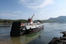 Catching the ferry at Kilchoan
