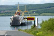 The ferry fron Fishnish to Lochaline