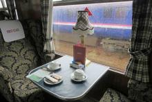 First class on The Jacobite steam train