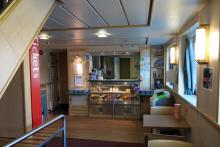 The restauarant on the MV Loch Nevis ferry