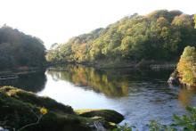 Fishing Stands on The River Shiel