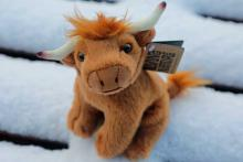 Living Nature Highland Cow Soft Toy - Small